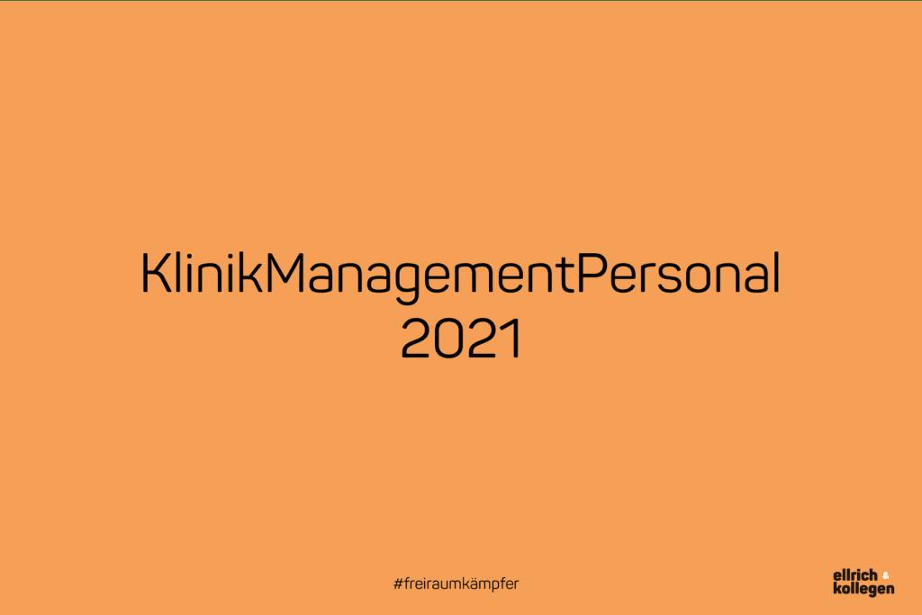 Eventempfehlung: KlinikManagementPersonal 2021