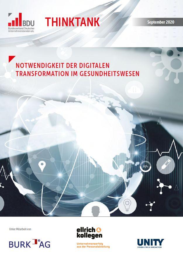 Notwendigkeit der Digitalen Transformation im Gesundheitswesen: Themendossier des BDU Thinktanks erschienen
